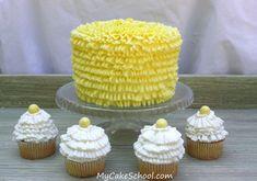 Buttercream ruffling with tips 050 & 070 in My Cake School's free blog tutorial!