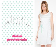 Mint polka dots dress