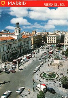 Puerta del Sol The central plaza of madrid. Streets radiate from it in all directions, to all parts of the city