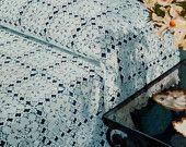Beautiful  Bedspread Crochet Pattern Vintage Bedspread Tapestry Pattern Crochet Bed Cover Instant Download PDF