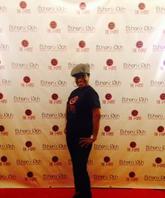 Red carpet photos in front of custom back drop
