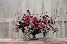 Our Top 10 Fall Floral Arrangements / Wedding Style Inspiration Fall Floral Arrangements, Wedding Flower Arrangements, Floral Centerpieces, Wedding Centerpieces, Tall Centerpiece, Seasonal Flowers, Fall Flowers, Love Flowers, Beautiful Flowers
