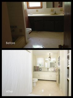 Before and After - Bathroom Real Estate Photography, Beautiful Space, Staging, Bathrooms, Home Improvement, Kitchen Cabinets, The Originals, Create, Inspiration