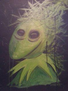 """Kermit"" acrylic on canvas by Shaun Lambert."