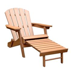 Faux Wood Adirondack Chair- Northbeam Adirondack chair made out of Polystyrene folds flat for easy storage for added convenience. The pullout ottoman is attached to the chair for added comfort. Ergonomic structure of the chair ensures op Patio Seating, Deck Chairs, Outdoor Chairs, Room Chairs, Swing Chairs, Eames Chairs, Bag Chairs, Upholstered Chairs, Outdoor Dining