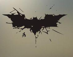 "(2) 5"" W batman dark knight returns decal sticker vinyl decal new  S507"