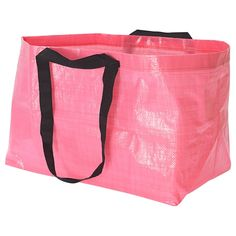 IKEA - SLUKIS, Shopping bag, large, pink, Easy to keep clean – just rinse and dry. Takes little room to store as it folds flat. Also suitable for recycling. Can Storage, Small Storage, Storage Containers, Storage Bins, Moving Supplies, Bin Bag, Reusable Bags, Blue Bags, Large Bags