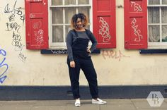 Ashley has to be one of our favourite street style models! She even took her jacket off in the absolute freezing cold to show us her full outfit. Her ASOS overalls were really cute, and we definitely got shoe envy from Ashley's ASOS silver detail pumps. #BlackBallad #StreetStyle #Fashion