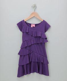 Hype asymmetrical ruffle dress