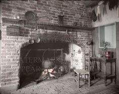 "We have tinted the first picture shown here, but you can request it not-tinted in black and white or sepia tone (see ""Tone options"" below. Colonial and Victorian Kitchen Fireplaces. CD option: You can request to substitute a CD instead of prints."