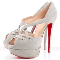 Christian Louboutin Shoes Lady Corset 150mm Suede Peep Toe Pumps Tutu