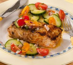 Middle-Eastern-spiced Sablefish with Cucumber Salad Cod Recipes, Fish Recipes, Seafood Recipes, Keto Recipes, Fish And Meat, Fish And Seafood, Just Cooking, Cucumber Salad, Salmon Burgers