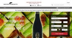 #Prosecco Bellussi in #omaggio ordinando da SpazioSushi Scopri come sul sito di #Bacchetteforchette