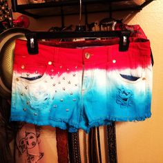 DIY 4th of July shorts #mydesign #LKR