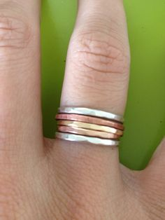 Stackable Rings THIS STACK COMBO by Muah808 on Etsy, $30.00