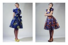 50's style dresses in wax prints