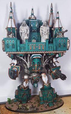 Warhammer Art, Warhammer Models, Warhammer 40k Miniatures, Warhammer 40000, Battlefleet Gothic, Imperial Knight, Fantasy Model, Space Wolves, Fantasy Miniatures