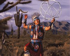 Native American Hoop Dancer. → For more, please visit me at: www.facebook.com/jolly.ollie.77