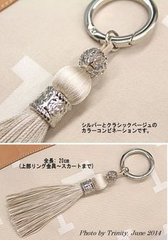 This is very pretty! Embroidery floss and some jewelry findings. Great gift idea!