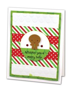 Gingerbread Hello Card - click through for project instructions.