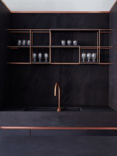 Bruno Moinard designs a copper-laced kitchen for Obumex