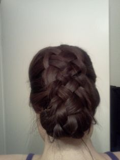 5 Strand Braid, tucked under and pinned.