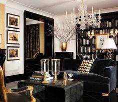 South Shore Decorating Blog: Black Sofa Anyone? Yes Please!