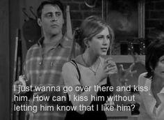 Friends,  Rachel Green, Kissing