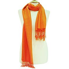 This versatile Peach Couture wrap features hand-knotted rayon from bamboo construction. Made with Azo chemical-free dyes, this vibrant orange wrap is the perfect touch to any outfit. Color options: Or