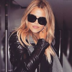 """""""I'm in love with my blonde hair!!! @traceycunningham1 you killed it with this color!!! """" Khloe"""