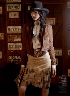73 Modern Cowgirl Looks - From Bohemian Cowgirl Editorials to Cowgirl Couture Captures (TOPLIST)