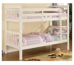 White-Bunk-Beds-3ft-Single-Ladder-Bed-Wood-Pine-Kids-Wood-Wooden