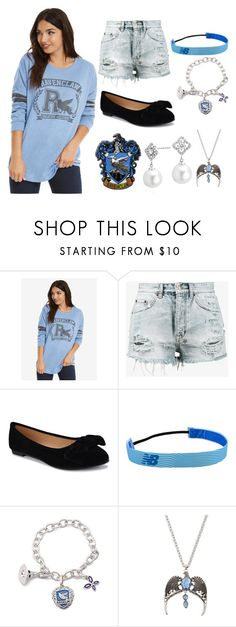 """Ravenclaw Pride"" by stonecldfxlol on Polyvore featuring Warner Bros., Ksubi, New Balance and Blue Nile"