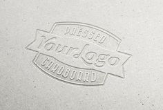 PSD Source - Pressed Cardboard Logo MockUp