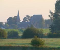 village church in Wilp, morning walk @menorcahorses.com