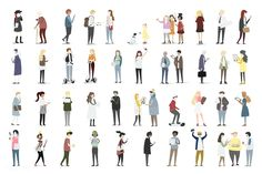 Illustration set of human avatar vector   free image by rawpixel.com