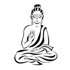 Buddha in the lotus position. Black outlines isolated on white. Stencil Fabric, Stencil Painting, Fabric Painting, Sign Painting, Custom Stencils, Stencil Designs, School Art Projects, Diy Home Decor Projects, Arte Ganesha