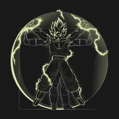 VITRUVIAN SAIYAN ( KAKAROT VARIANT) T-Shirt - Dragon Ball Z T-Shirt is $12.99 today at Pop Up Tee!