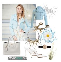 """""""Stylemoi"""" by nermina-hasic ❤ liked on Polyvore featuring Prada, Gianvito Rossi, Barbour and stylemoi"""