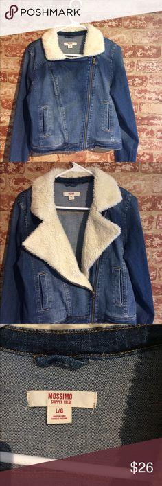 Mossimo jean jacket Very cute side zip jean jacket. Comes to waist. Brand new never worn. mossimo Jackets & Coats Jean Jackets