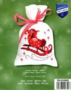 Cross-stitch Christmas Sachet Sets, part Santa's Sleigh Sachet, Cover… Cross Stitch Beginner, Xmas Cross Stitch, Cross Stitch Christmas Ornaments, Cross Stitch Pillow, Cross Stitch Heart, Noel Christmas, Cross Stitching, Cross Stitch Embroidery, Cross Stitch Patterns