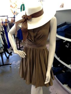 Hat: $18. Dress: Paper Crown, $270. At Posh from Style Blueprint's What to Wear: Steeplechase 2014