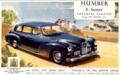 Humber Imperial 8 Seater Advert
