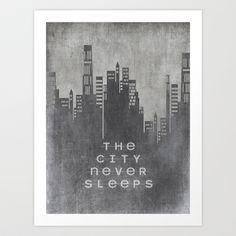 The City Never Sleeps Art Print by Ally Coxon - $20.00