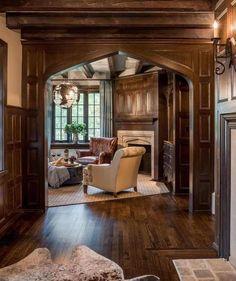 1925 Tudor In Wayne Pennsylvania — Captivating Houses Tudor House, Tudor Cottage, Stone Interior, Interior Exterior, Interior Design, This Old House, My House, Casas Tudor, Casa Estilo Tudor