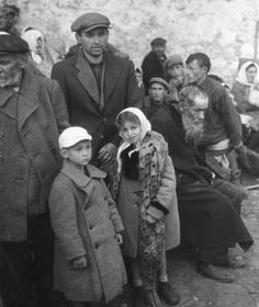 "Jewish residents of the Polish village of Jasionówka are rounded up by SS units, 1941. Polish Jews were first to suffer massive deportations and extermination as part of the Nazi ""Final Solution."""