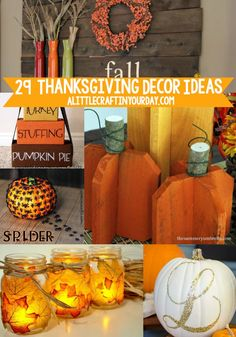 We're sharing 29 Thanksgiving Decor Ideas today. You're going to love all these Decor ideas for Thanksgiving and won't believe how easy they are. You can DIY some, buy some, or you may be able to use these ideas with things you already have on hand. Fall Crafts For Kids, Diy Projects For Teens, Diy For Teens, Crafts For Teens, Craft Projects, Craft Ideas, Project Ideas, Thanksgiving Projects, Thanksgiving Decorations