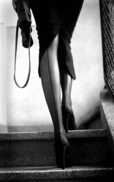 collants - pencil skirt - high heel