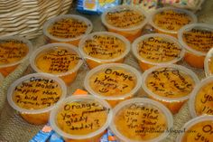At the beginning of the year, we did a Banana Theme Breakfast (see it here http://www.pinterest.com/pin/156711262004860277/) so at the end of school year our Teacher Appreciation was Orange theme - oranges, mandarin orange cups, orange flavor for water, orange sweets, etc. These were a hit and an inexpensive snack for the entire staff. #PTA #school #teacher #gift #classroom