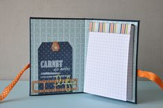 Carnet d'Icenalys. Collection Mylo de Swirlcards + toile de reliure marine Swirlcards